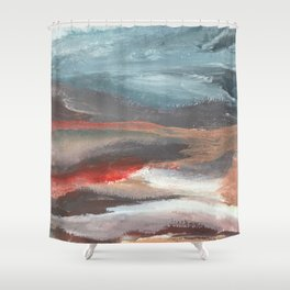 Serenity [2]: an acrylic piece in both warm and cool colors by Alyssa Hamilton Art Shower Curtain