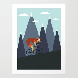 Ride To The Top Art Print
