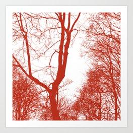 Ruby branch Art Print