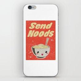 Send Noods Vintage Ramen Noodles Japanese Food Gift For Foodies iPhone Skin