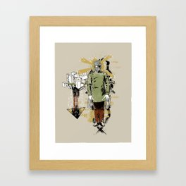 He Came With Bolts From His Eye Framed Art Print