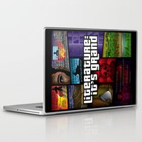 literature Laptop & iPad Skins featuring Grand Theft Literature by Mitul Mistry
