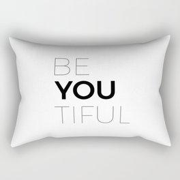 Be You Tiful Women's Tshirt Rectangular Pillow