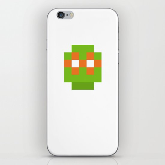 hero pixel green orange iPhone & iPod Skin