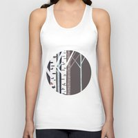 birch Tank Tops featuring birch trees by liva cabule