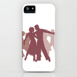 Latin Dancers Illustration iPhone Case