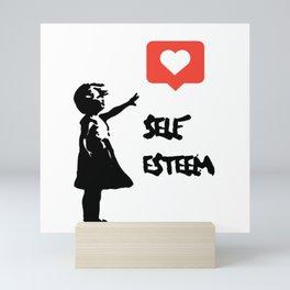Self Esteem - Banksy Mini Art Print
