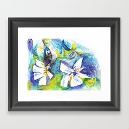Wasserblumen / Waterflowers Framed Art Print