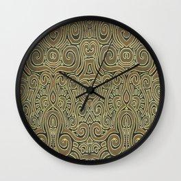 Golden Manipura 3 Wall Clock