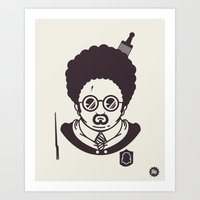 potter Art Prints featuring Barry Potter by Ryder Doty