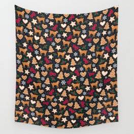 Gingerbread pups | Pug Wall Tapestry