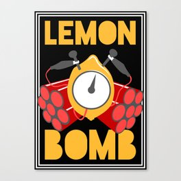 Lemon Bomb Canvas Print