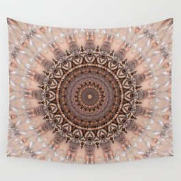 Mandala romantic pink Wall Tapestry