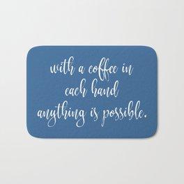 Funny Coffee Sayings Bath Mat