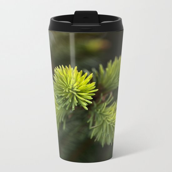 New Growth Pine Needles Metal Travel Mug