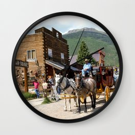 Catch the Afternoon Stage out of Silverton Wall Clock