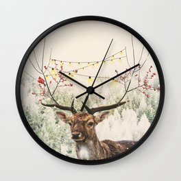 Winter Time Wall Clock