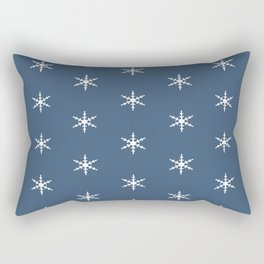 Falling Snow Flakes in the Night Sky Rectangular Pillow