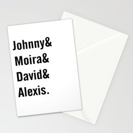 Johnny and Moira and David and Alexis Stationery Cards