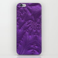 renaissance iPhone & iPod Skins featuring Renaissance Purple by Charma Rose