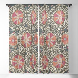Katti Kurgan Suzani Uzbekistan Embroidery Print Sheer Curtain
