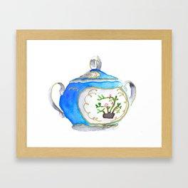Sugar Bowl Water Color Framed Art Print