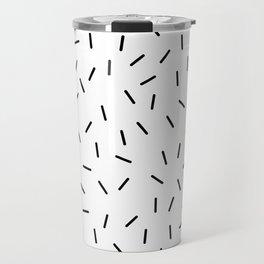 Black and white minimal 15 Travel Mug