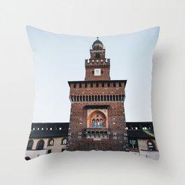 Sforza castle in Milan Throw Pillow