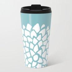 Teal Dahlia Travel Mug