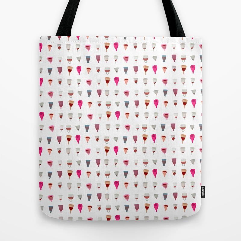 Menstrual Cups Tote Bag by Robotteeth TBG8695033