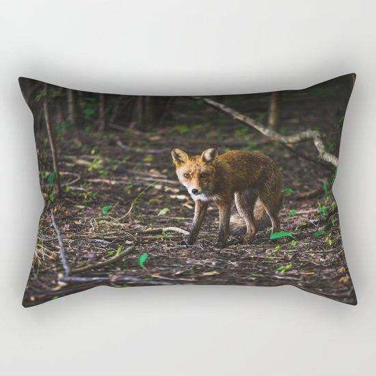 Silver fox Rectangular Pillow