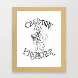 Creature Preacher Framed Art Print