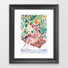 Goddess Picnic Framed Art Print