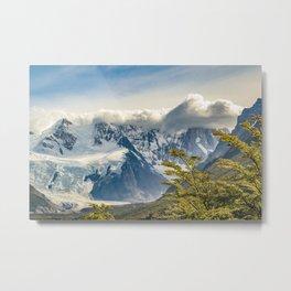 Snowy Andes Mountains, El Chalten Argentina Metal Print