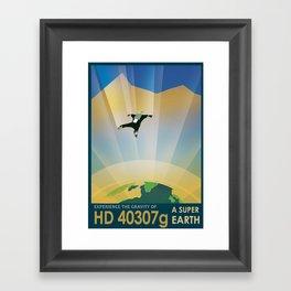 NASA Retro Space Travel Poster #6 Framed Art Print