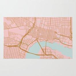 Jacksonville map, Florida Rug