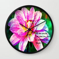 love quotes Wall Clocks featuring Quotes-Rumi by haroulita