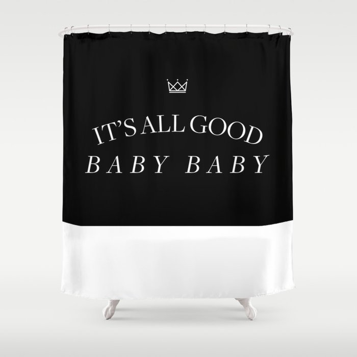 It's All Good Baby Baby Shower Curtain