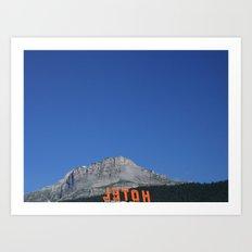 Chamonix hotel Art Print