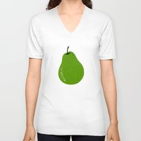 pear V-neck T-shirts featuring Pear by Roland Lefox