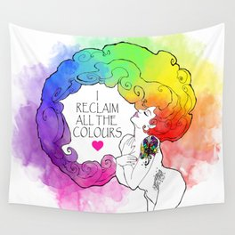 Reclaiming All Colours Wall Tapestry