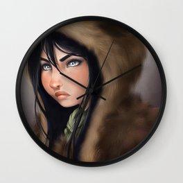 Lea-Nah warrior Wall Clock