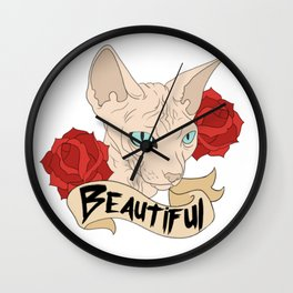 Beautiful Sphynx Wall Clock