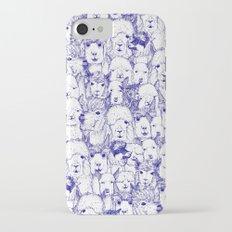 just alpacas blue white Slim Case iPhone 7