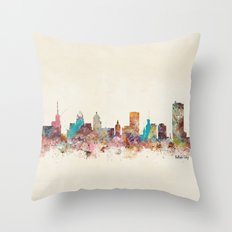 buffalo city new york  Throw Pillow