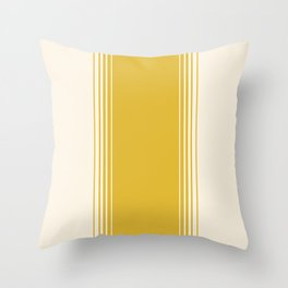 Marigold & Crème Vertical Gradient Throw Pillow
