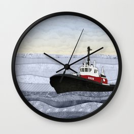 Tugboat Wall Clock