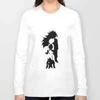 goku Long Sleeve T-shirts featuring Goku Transformations by Prince Of Darkness