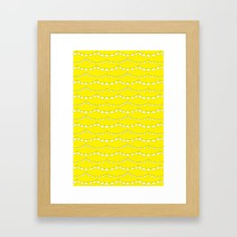 Flag Banner Illustration in Happy Yellow and White Framed Art Print