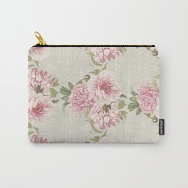 pink peony pattern Carry-All Pouch